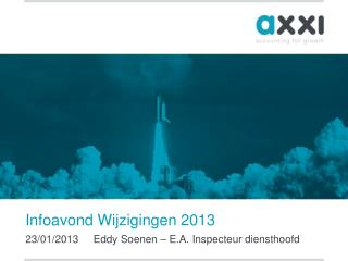 Infoavond Wijzigingen  2013