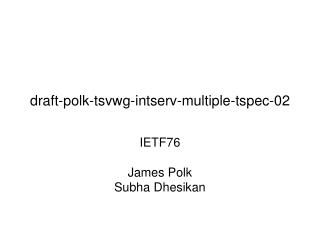 draft-polk-tsvwg-intserv-multiple-tspec-02