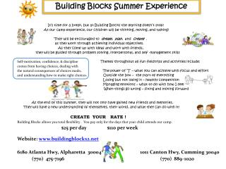 Building Blocks Summer Experience