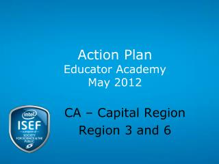 Action Plan Educator Academy May 2012