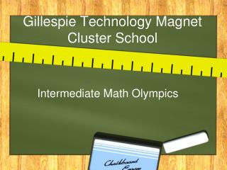 Gillespie Technology Magnet  Cluster School