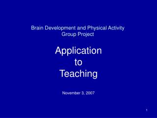 Brain Development and Physical Activity