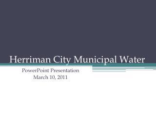 Herriman City Municipal Water