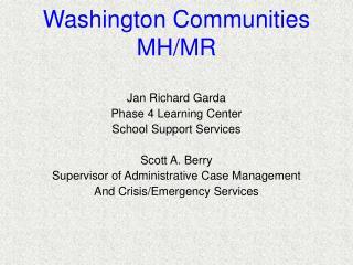 Washington Communities MH