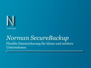 Norman SecureBackup