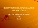 DIRETRIZES CURRICULARES DE HIST RIA