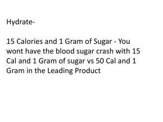 Hydrate-