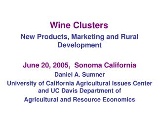 Wine Clusters