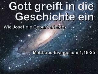 Gott greift in die Geschichte ein