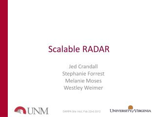 Scalable RADAR