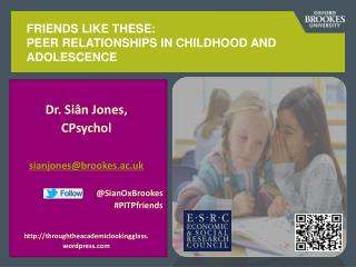 Friends like these: Peer relationships in childhood and adolescence
