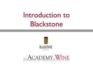 Introduction to Blackstone