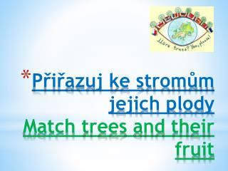 Přiřazuj ke stromům jejich plody Match  trees  and  their fruit
