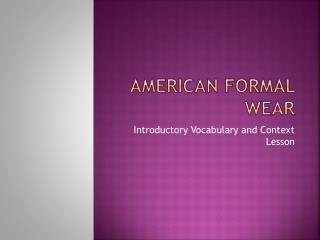 American Formal Wear
