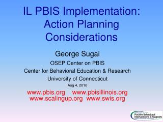 IL PBIS Implementation: Action Planning Considerations