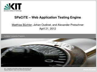 SPaCiTE  � Web Application Testing Engine