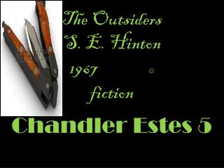 The O utsiders  S. E. Hinton 1967                   fiction