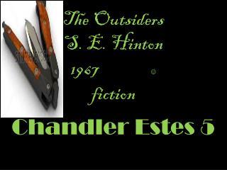 The O utsiders  S. E. Hinton 1967                   fiction