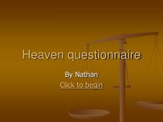 Heaven questionnaire