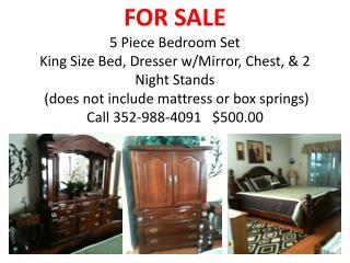 2greenwell 5 piece bedroom set