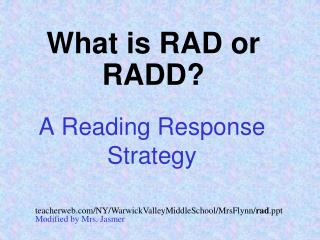 A Reading Response Strategy