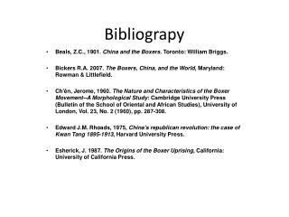 Bibliograpy