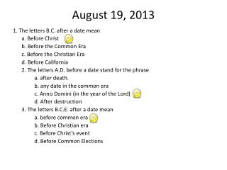 August 19, 2013