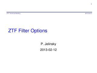 ZTF  Filter Options