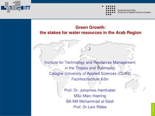 Green Growth: the stakes for water resources in the Arab Region