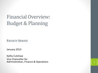Financial Overview:  Budget & Planning