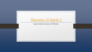Mawasim Sahab 2