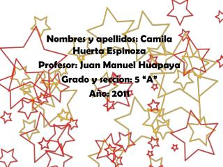 Nombres y apellidos: Camila Huerta Espinoza Profesor: Juan Manuel Huapaya