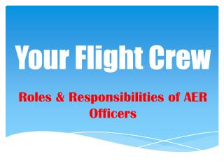 Your Flight Crew