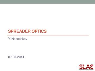 spreader OPTICS