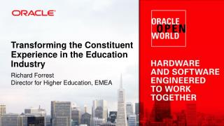 Transforming the Constituent Experience in the Education Industry