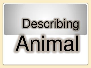 Describing  Animal