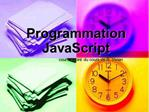 Programmation JavaScript