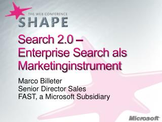 Search 2.0 –  Enterprise Search  als Marketinginstrument
