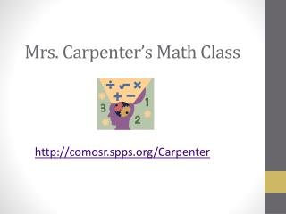 Mrs. Carpenter's Math Class