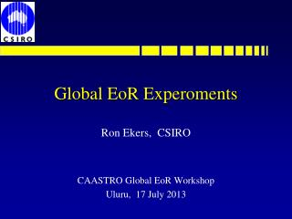 Global  EoR Experoments