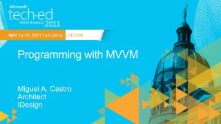 Programming with MVVM
