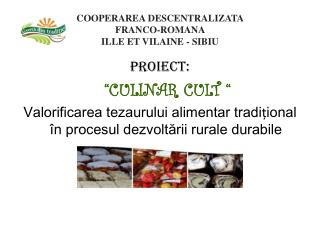 COOPERAREA DESCENTRALIZATA  FRANCO-ROMANA  ILLE ET VILAINE - SIBIU
