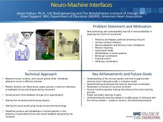 Neuro -Machine Interfaces