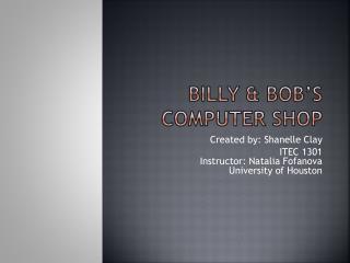 Billy & Bob's Computer Shop