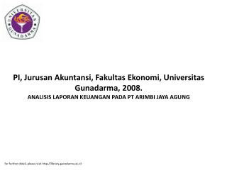for further detail, please visit library.gunadarma.ac.id