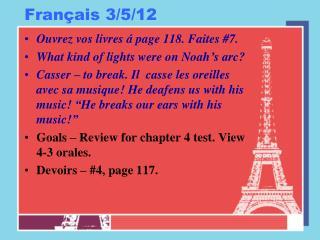 Français 3/5/12