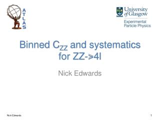 Binned C ZZ  and systematics for ZZ->4l