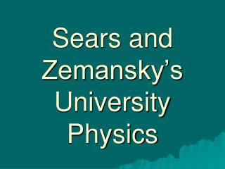Sears and Zemansky s University  Physics