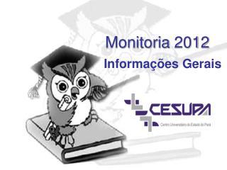 Monitoria  2012