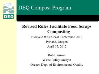 DEQ Compost Program